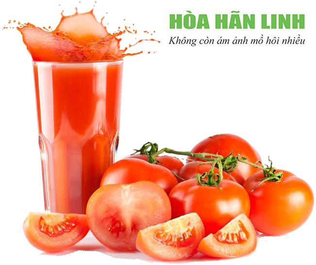 Nước ép cà chua giúp cơ thể mát mẻ giảm đổ mồ hôi tay